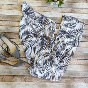 Sam Edelman Palm Tree One Shoulder Jumpsuit